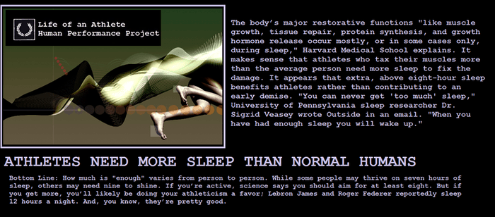 Athletes Need More Sleep!