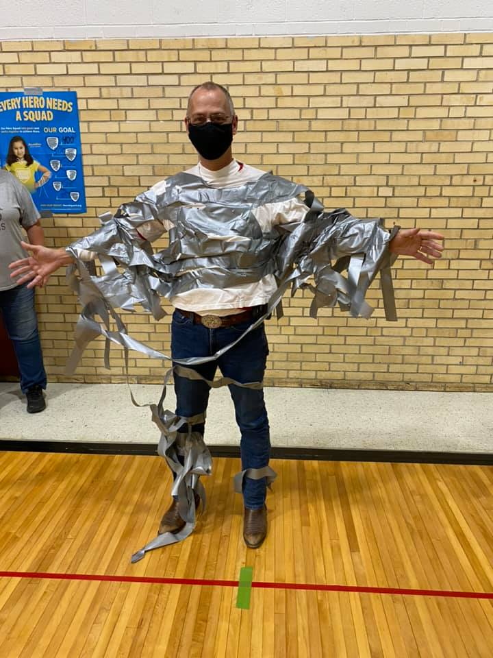 Mr. B in Duct Tape